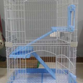 Two-tier cat cage