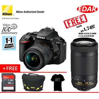 NIKON D5600 WITH 18-55mm VR LENS (BUY 1 FREE 4 !!!) (ORIGINAL & OFFICIAL NIKON)