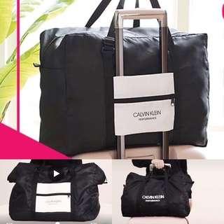 全新🆕Calvin Klein travel bag 摺疊式旅行袋 可套在行李柄上