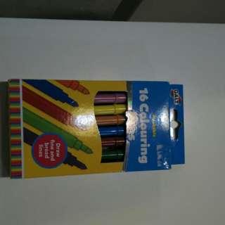 [BN] 16 Washable colour pens