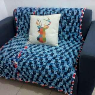 Ecclectic Sofa and Pillow set