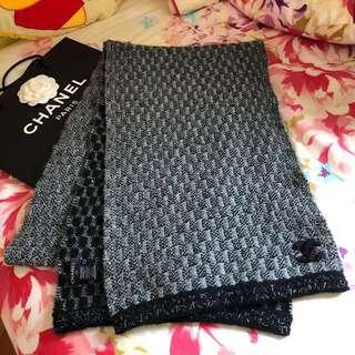 CHANEL Scarf  灰/黑 色 長頸巾