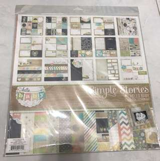 Simple stories hello baby 12x12 kits