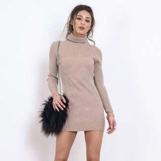 [LOOKING FOR] oh kendall knitted Turtle Neck Dress (OATMEAL)