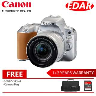 CANON EOS 200D WITH EF-S 18-55MM IS STM (Original Set & Official Canon Malaysia)