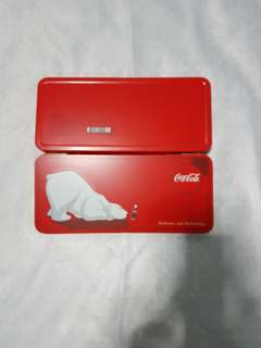 Coca cola metal pencil box