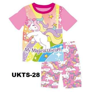 My Magical Unicorn Short Sleeve Tshirt/Shorts Set for (2 - 7 yrs old) Instock