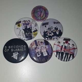 5 Seconds Of Summer Badges