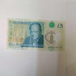 英國5英鎊