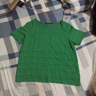 Blouse hijau fit to L