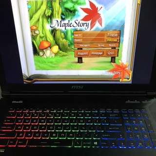 Gaming laptop Apache MSI GE72