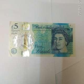 英國英鎊5鎊