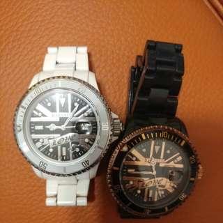Chouette x William x angelababy 錶(8成新)-1對黑白色
