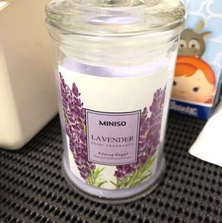 Miniso lavender candle