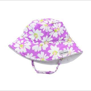 SALE 70% Off - 1-2 years BNWT Flap happy baby girls sun printed hat - purple