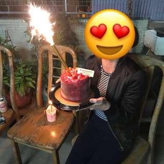 煙花蠟燭 煙火 生日蛋糕 party