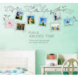 Hanging Photo Frames Wall Decal Sticker