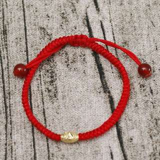 Red string kabbalah w/ gold plated spacer