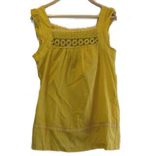 H&M Yellow Sleeveless Top