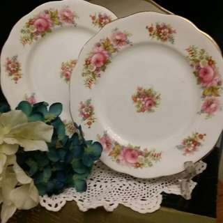 Royal Albert Cake Plate 2pcs