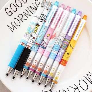 Uni japan disney snoopy / ariel / pooh / cinderalla / monster   kurutoga / kuru toga pencil / lead