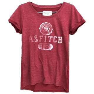 A&F紅色短袖T-shirt