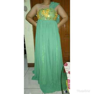 Green Long Gown