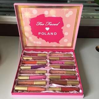 Too Faced 16colors Matte Lipgloss Set
