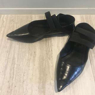 Zara Leather Flats