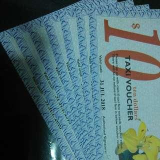 Taxi Vouchers (Trade w $70 NTUC vouchers or $70 cash)