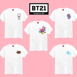 BT21 Line Character T-shirt and Finger Heart