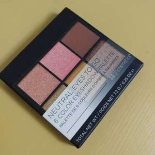 ics Neutral Eyes To Go 6 color Eyeshadow Palette