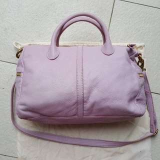 Fossil Erin Leather Satchel Bag in Lilac