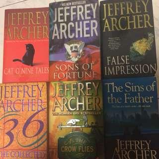 Jeffrey Archer selected titles