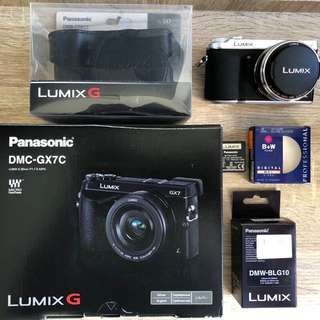 Panasonic Lumix Digital Camera DMC-GX7C with Lumix G 20mm/F1.7 II ASPH