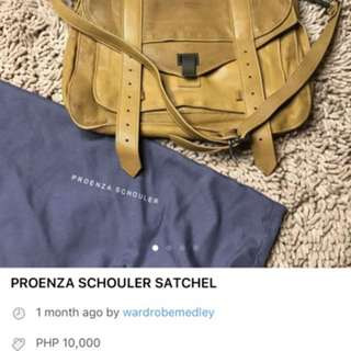 AUTHENTIC Proenza schouler Satchel