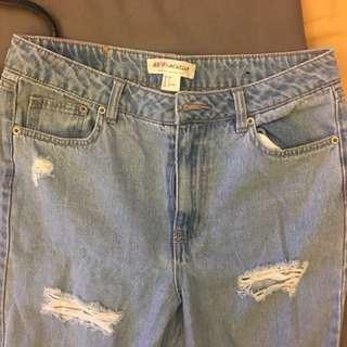 H&M Ripped Denim Pants