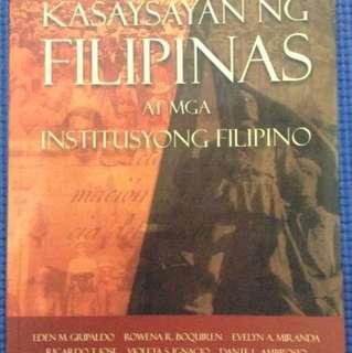 Kasaysayan ng Filipinas at mga Institusyong Filipino