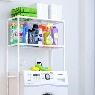 Washing machine rack shelf