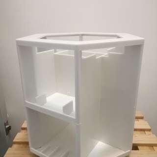 360旋轉化妝品護膚品收納架