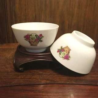 懷舊中國醴陵國光瓷廠小花碗一對