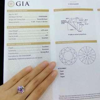 強螢光💎6.09ct GIA鑽石💎