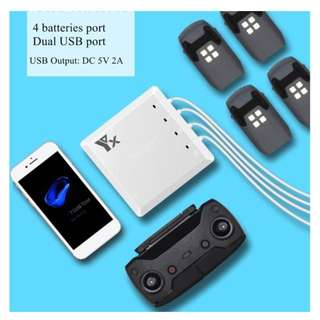 6 In 1 Battery Remote Charger Hub Intelligent Parallel Dual USB For DJI Spark