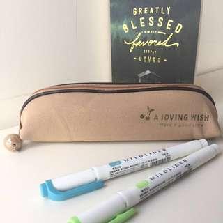BN Brown Pencil Case