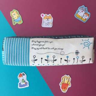 BN Blue and White Pencil Case