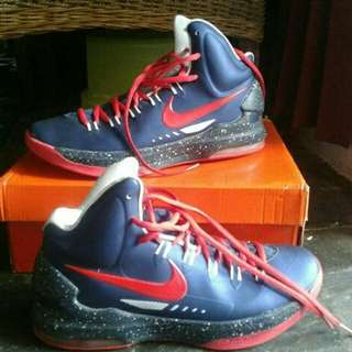 Nike kd Nike Kevin Durant 5 navy red - lengkap box size 41 (26cm) Made in China