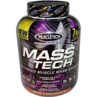 Muscletech Mass Tech Gainer Chocolate 7lbs 增重奶粉