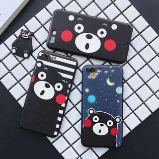 熊本熊 Iphone 黑邊軟殻👻