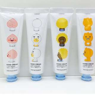 Quick Preorder! Official Kakao Friends little Friends handcream hand cream the face shop thefaceshop Ryan Apeach JAYG JAY G TUBE