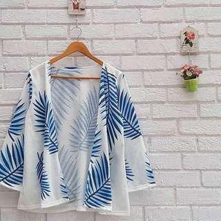 Leaf White Kimono Outher